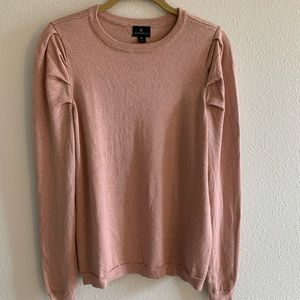 Blush pink long sleeve top. Size Medium